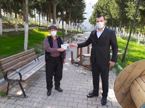 Ak Parti Antakya İlçe başkanlığı ücretsiz maske dağıtımı gerçekleştirdi