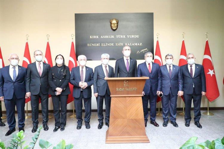 Adalet Bakanı Abdulhamit Gül Hatay'da